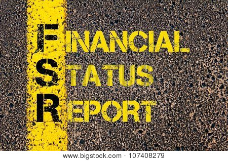 Business Acronym Fsr As Financial Status Report