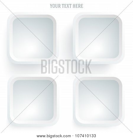 Frame-your-message-template-white-background-isolated