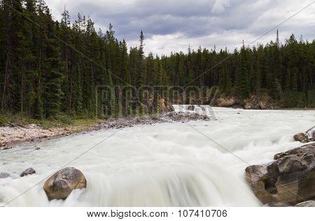 Cascade Of The Sunwapta River