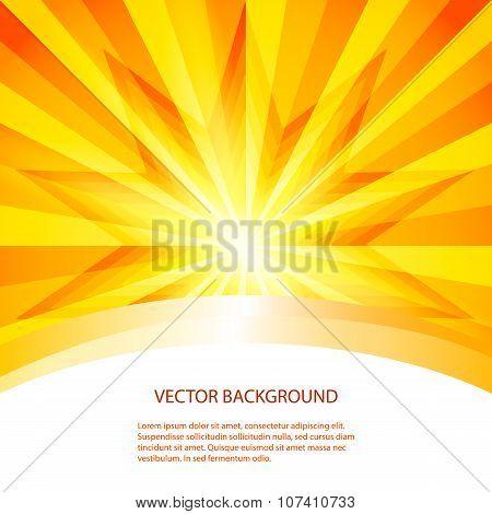Hot-summer-sun-sunrise-background-label-product