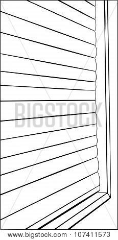 Outline Of Closed Window Blinds
