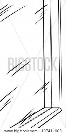 Glass Window Outline