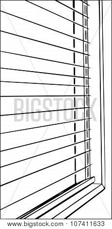 Close Up Of Blinds In Outline
