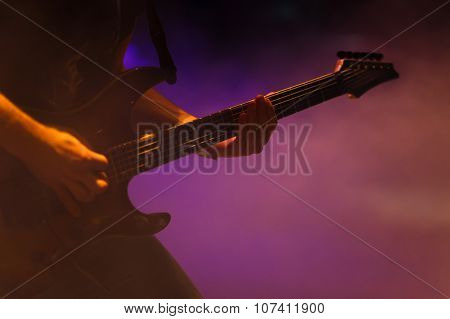 Guitarist On The Concert