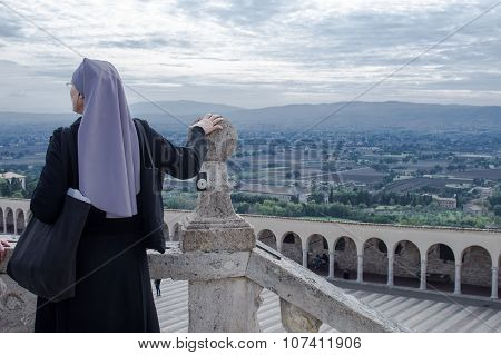 Nun Watch Assisi's Panorama