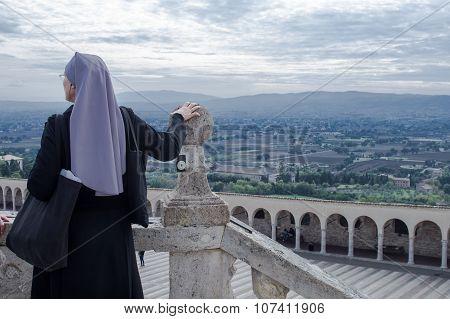 Nun Watch Assisi's Panorama