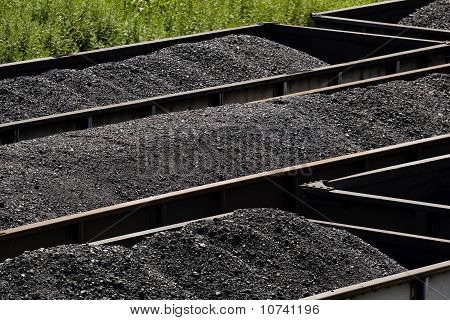 Close-up Of Coal In Coal Cars