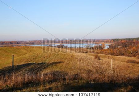 Landscape Of Country Side At Fall Time