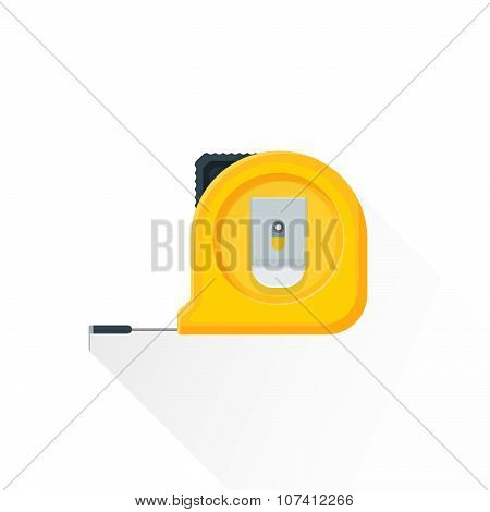 Vector Flat Construction Roulette Illustration Icon.