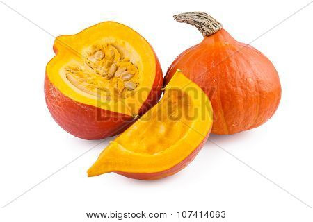 Pumpkin Red Hokkaido over White
