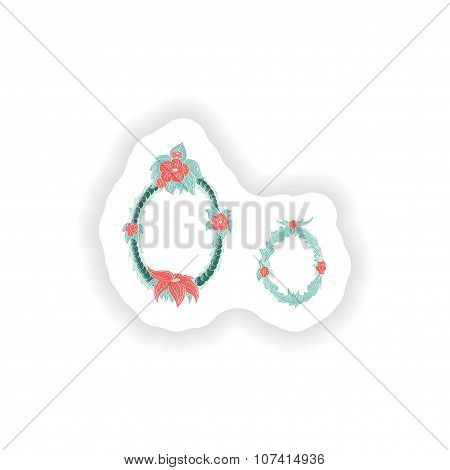 stiker Abstract letter O logo icon  in Blue tropical style