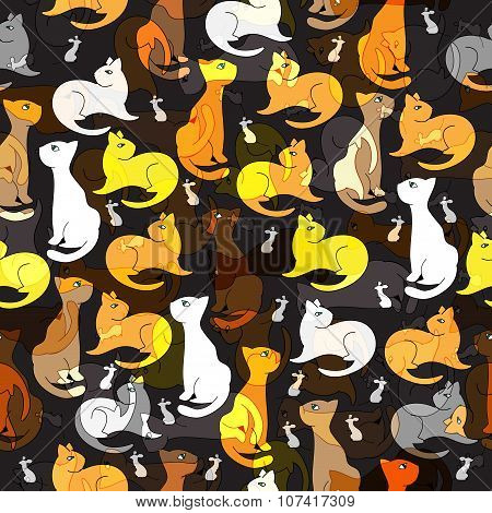 Pattern cat and mice