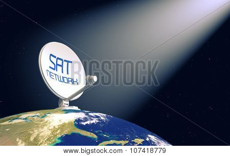 Concept Of Satellite Network- Elements Of This Image Furnished By Nasa