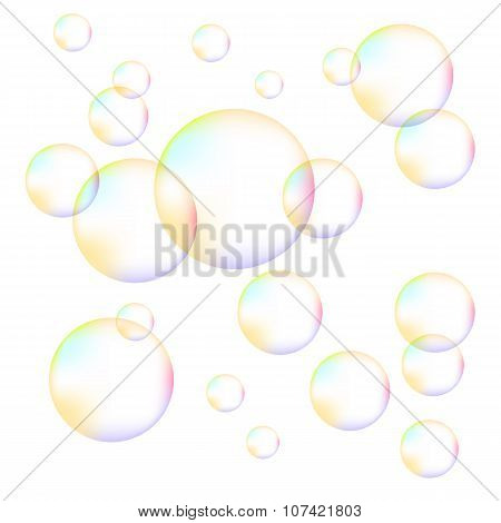 Transparent Colorful Foam Bubbles