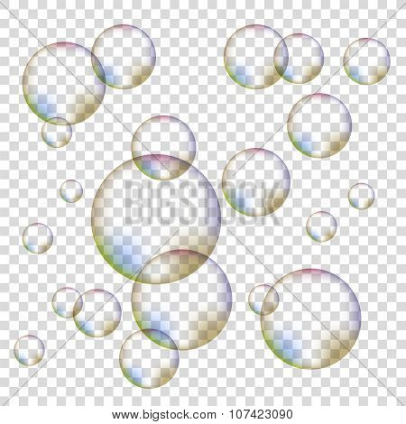Set of Colorful Bubbles