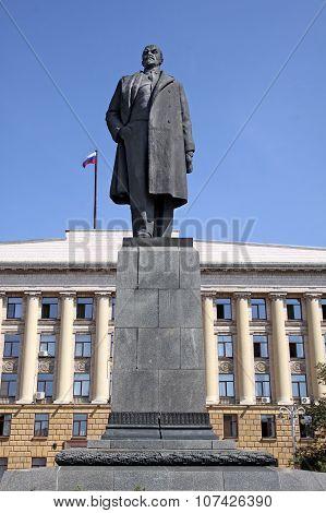 Lenin Monument  In Penza