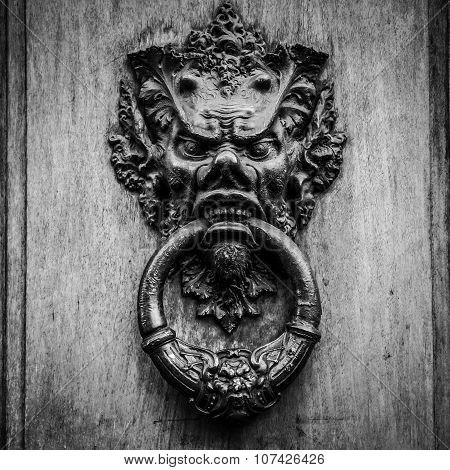 Devil Head Door Knocker