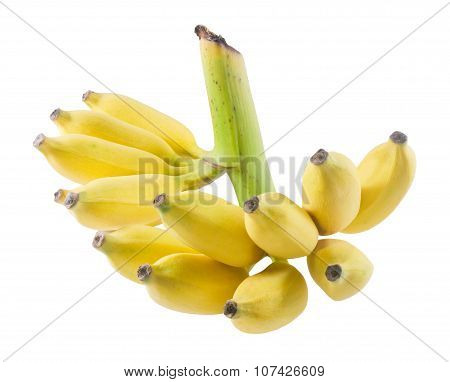Ripe Banana Fruits On A White Background