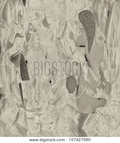 very Nice Image of a Abstract painting On Glass in Verso