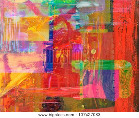 An Interesting large scale Abstract Painting On Canvas