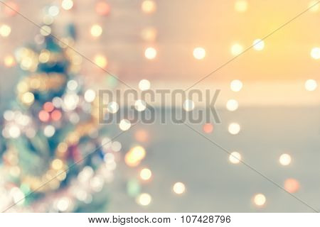 Sparkle Bokeh Of Christmas Tree, Background For Display Of Your Product For Christmas Background, Vi