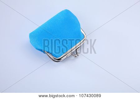 Retro coin purse isolated white background