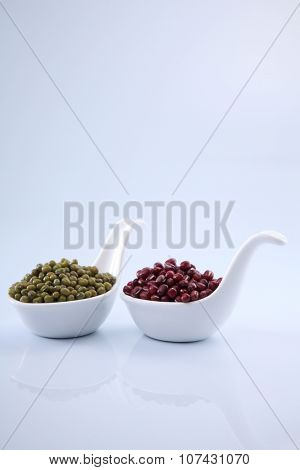 adzuki bean and mung beans
