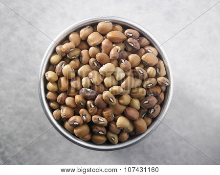top view of the Nigerian brown bean