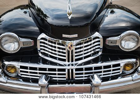 Black 1947 Lincoln Continental Convertible Classic Car