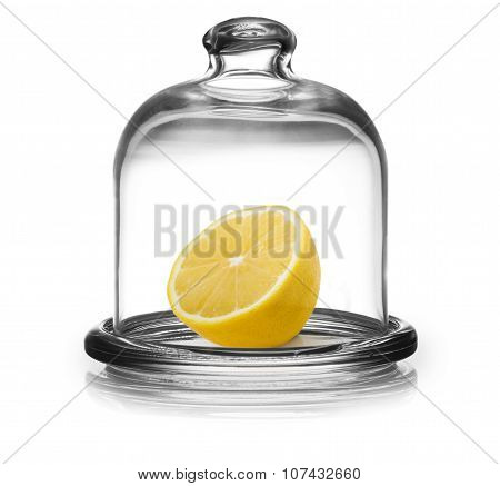 Lemon In Saucer With Lid