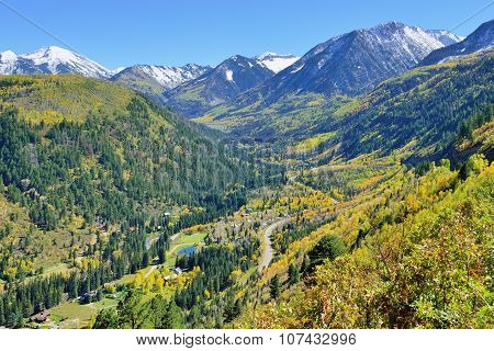 Mt Sopris During Foliage Season In Colorado