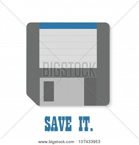 Foppy disk icon isolated. Save it