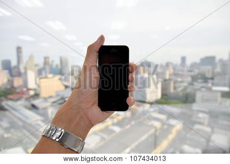 Hand Hold Mobile Phone