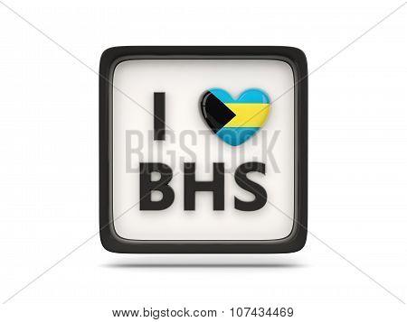 I Love Bahamas Sign