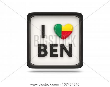 I Love Benin Sign