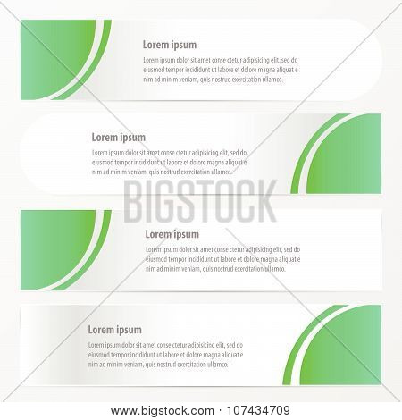 Curve Banner Style   Design Green Color