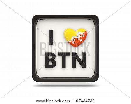 I Love Bhutan Sign