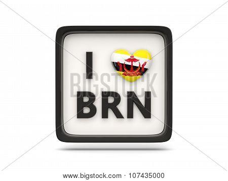 I Love Brunei Sign