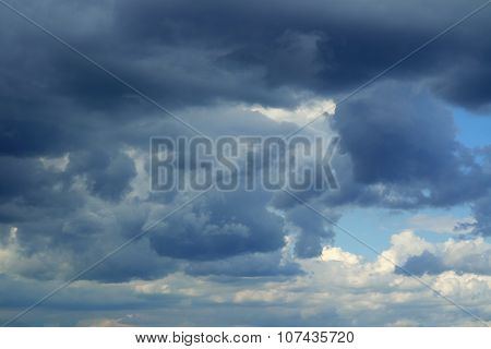 Thunderclouds.