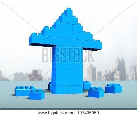 Arrow Up Shape Of Stack Blocks