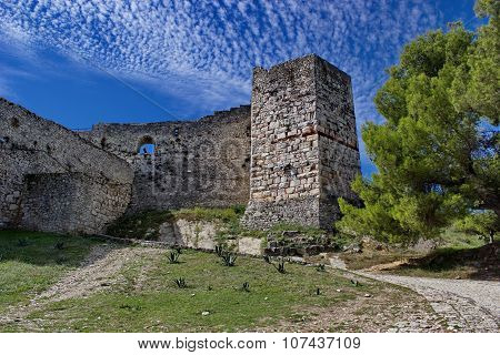fortress in Berat in summertime, Albania