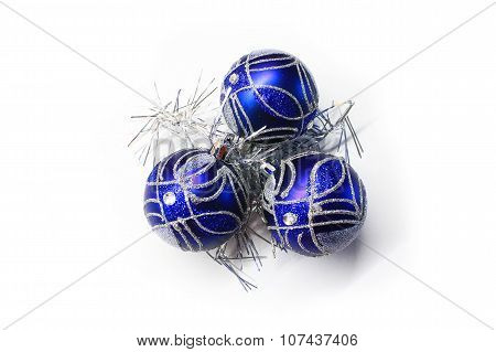 Bright blue Christmas decorations