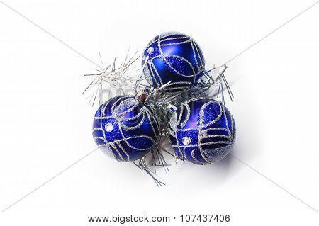 Bright blue Christmas decorations