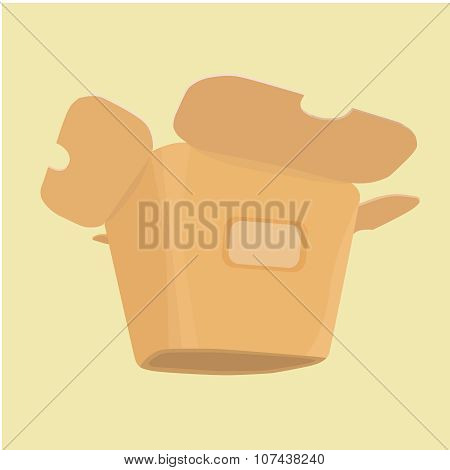 The layout of the carton for food from a fast food restaurant