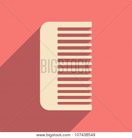 Flat with shadow icon and mobile application comb