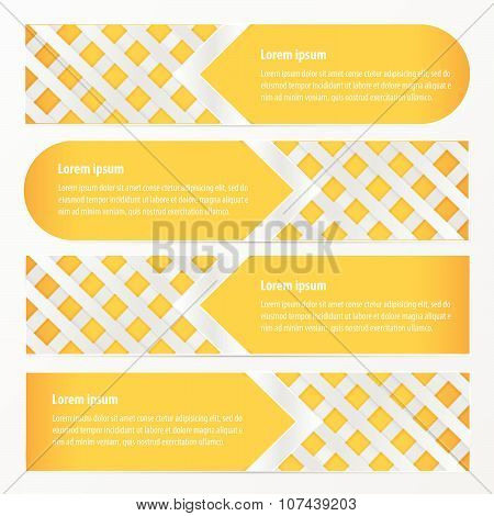Weave Design Banner  Yellow Color