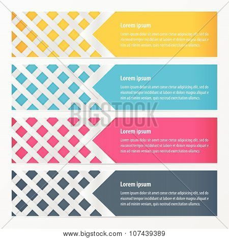 Weave Design Banner Yellow, Blue, Pink Color
