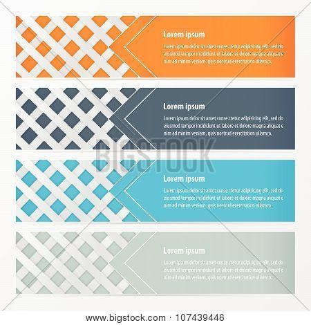 Weave Banner  Orange , Blue, Gray Color