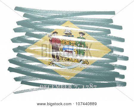 Flag Illustration - Delaware