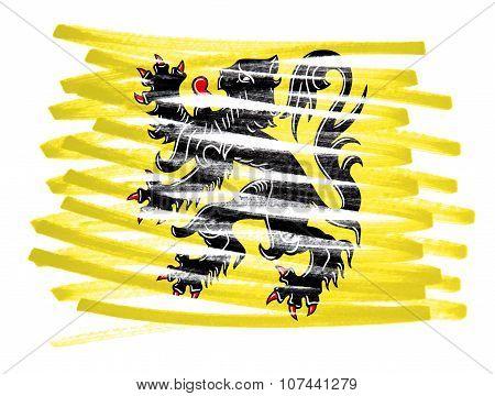 Flag Illustration - Flanders